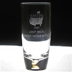 Chip Becks 1987 Masters Tournament Hole No. 2 Crystal Eagle Glass