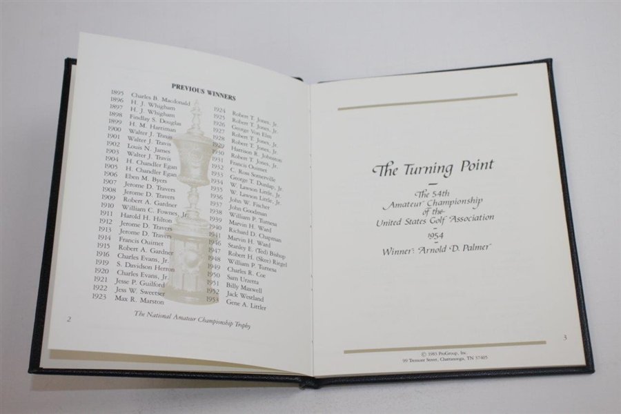1983 'The Turning Point' 54th Amateur Championship Won by Arnold Palmer Commemorative Book