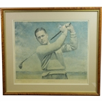 Bobby Jones Signed Ltd Ed 1954 USGA Thomas E. Stephens Print #510 - Framed JSA ALOA