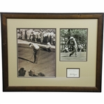 Ben Hogan & Herman Keiser Signed Cut Framed Display with Two Photos JSA ALOA