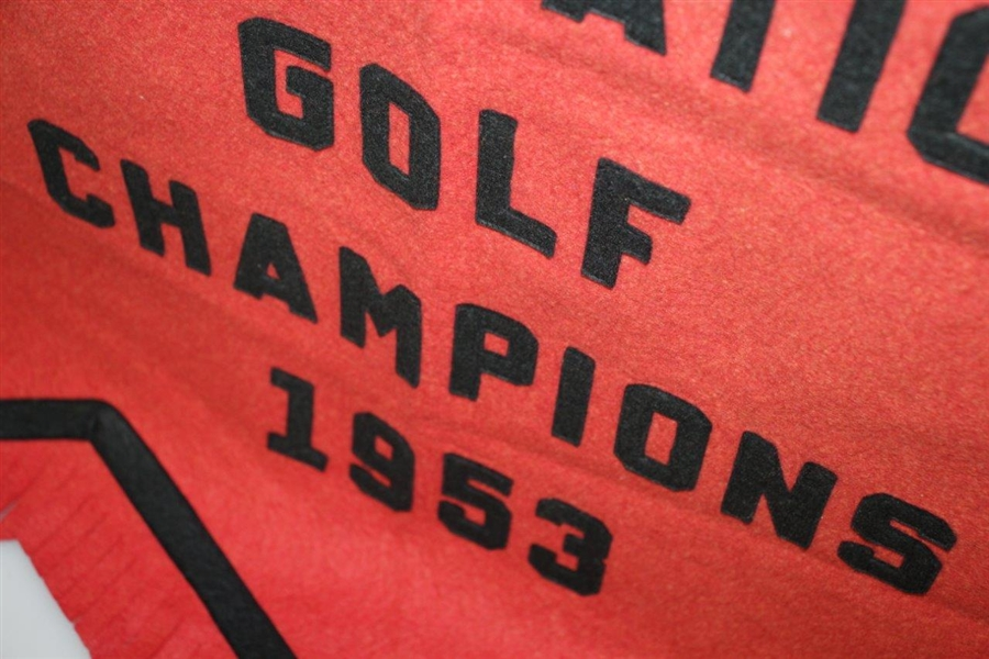 1953 California Collegiate Athletic Assoc. Golf Champions Banner Given to San Diego St