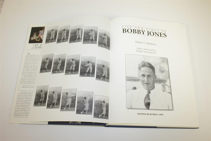 'Life and Times of Bobby Jones' A Portrait of a Gentleman by Sidney L. Matthew