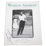 Tiger Woods Signed 1996 Western Amateur Official Program FULL JSA #BB52986