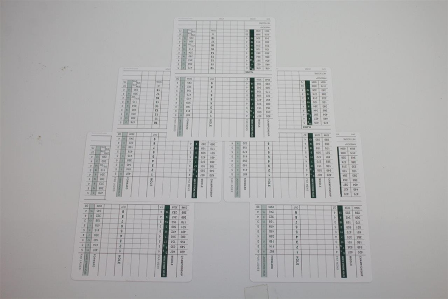 Six Cypress Point Club Official Scorecards - Unused