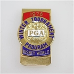 1976 PGA Winter Tournament Program Contestant Badge - Rod Munday Collection