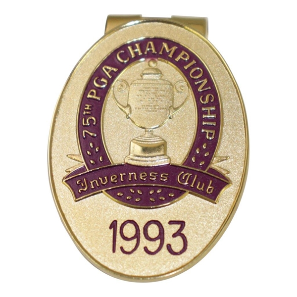 Ken Venturi's Personal 1993 PGA Championship at Inverness Club Money Clip