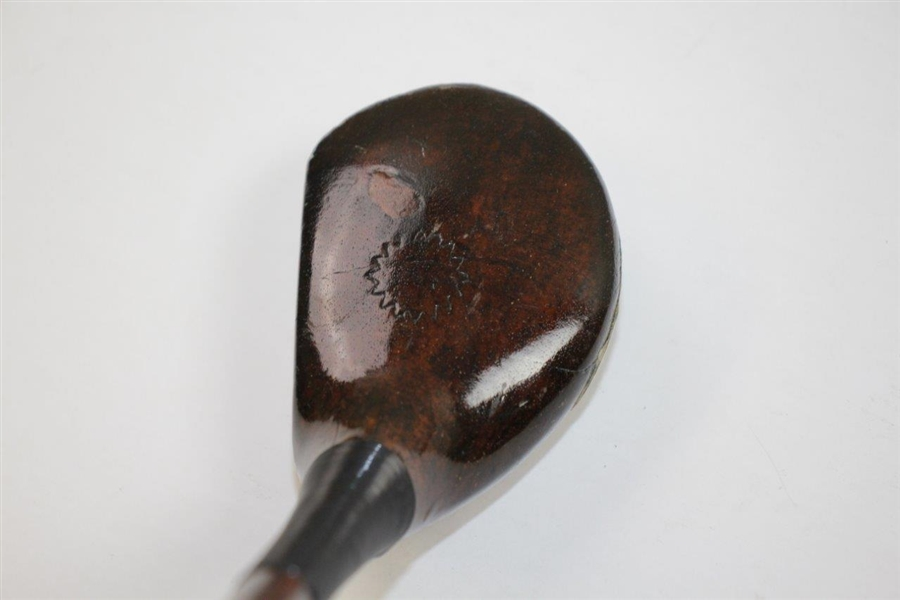 No Name Wood Socket Head Driver with Lined Face - Crawford Co. McGregor Shaft Stamp