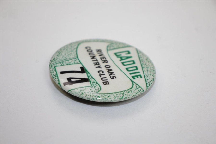 Classic River Oaks Country Club Caddie Badge #74