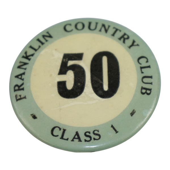 Classic Franklin Country Club Class 1 Caddy Badge #50