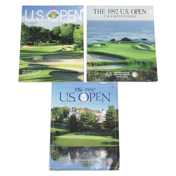 1989, 1992, & 1997 US Open Programs - Oak Hill, Pebble Beach, & Congressional