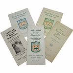Womens State Golf Championship Programs/Guides - 1935 (Kentucky), 1958-1962-1965-1966 (Florida)