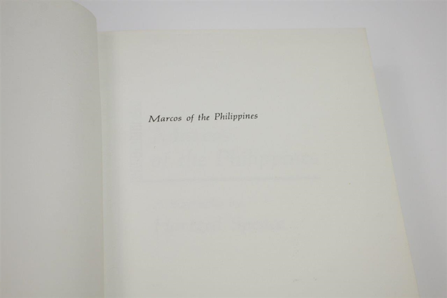 'Marcos of the Philippines' Book Signed by Hartzell Spence to Bobby Wadkins JSA ALOA