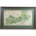 1967 Kings Course Gleneagles Visual Survey Depicted by Golf Architect James P Izatt - Framed