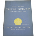 1953 Walker Cup at The Kittansett Club Official Program - USA 9-3