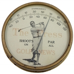 Walter Hagen The Press Golf Shoots Par An All Golf News Thermometer by Lakeside Mfg. Co. Chicago