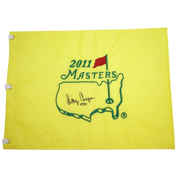 Billy Casper Signed 2011 Masters Embroidered Flag with '1970' Notation JSA ALOA