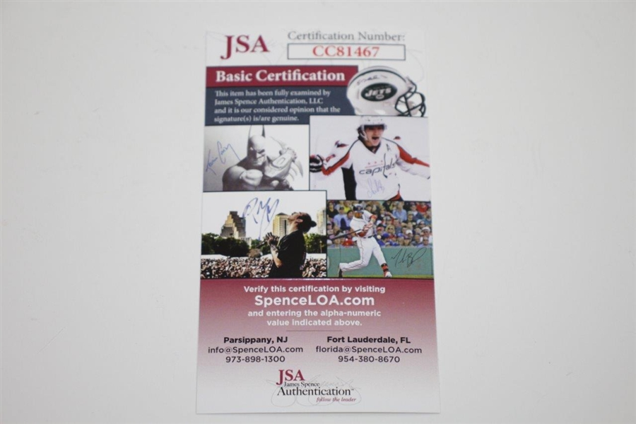 Jack Nicklaus Signed Augusta National Golf Club Scorecard JSA #CC81467