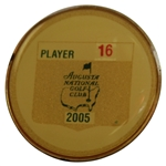 2005 Masters Tournament Contestant Badge #16 - Tiger Wins 4th Title @ Augusta!