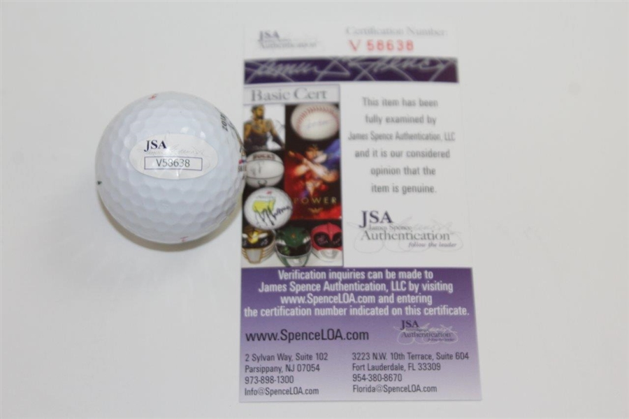 Dustin Johnson Signed 2018 US Open at Shinnecock Hills Logo Golf Ball JSA #V58638