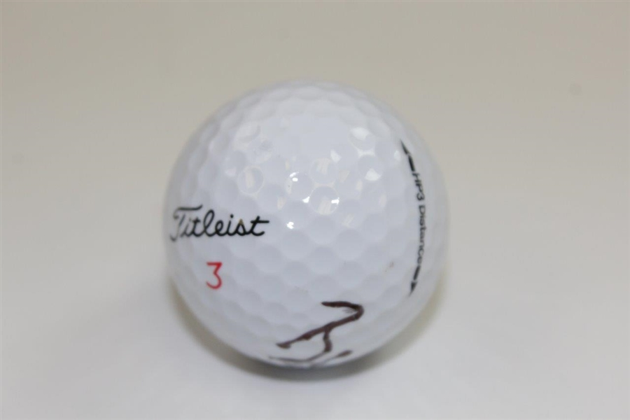 Brittany Lincicome Signed Titleist Logo Golf Ball JSA ALOA
