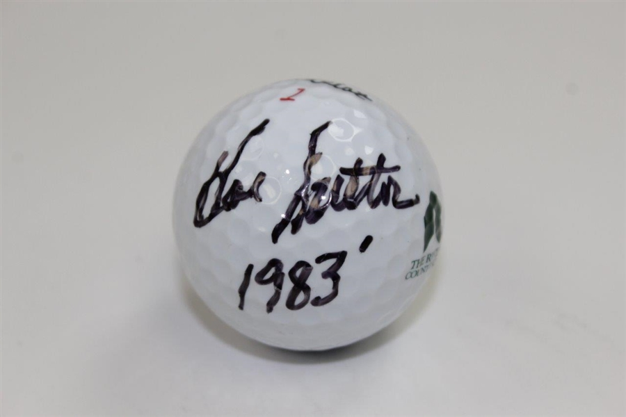 Hal Sutton Signed The Riviera Country Club Logo Golf Ball with '1983' Notation JSA ALOA