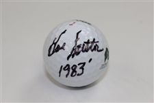 Hal Sutton Signed The Riviera Country Club Logo Golf Ball with 1983 Notation JSA ALOA