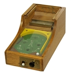 Vintage Wooden Pin Ball Game Machine - Hole-In-One, Eagle, Birdie, Par, Out of Bounds