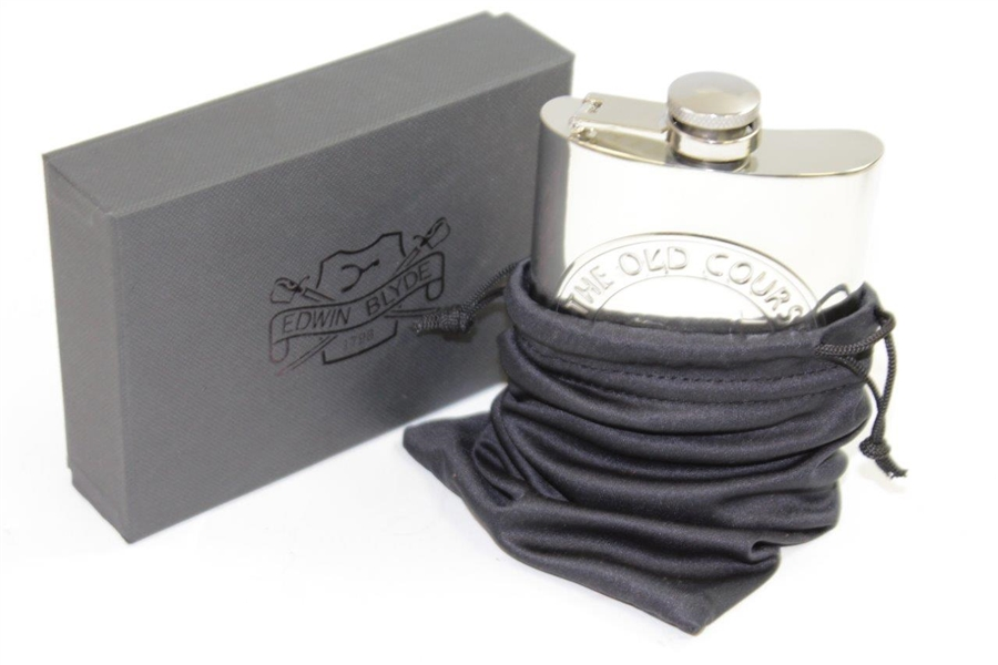 The Old Course St. Andrews Edwin & Blyde Flask in Original Box