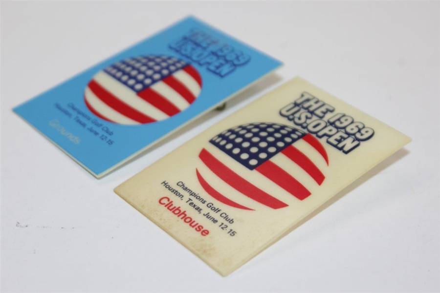 Two 1969 US Open at Champions Golf Club Ground & Clubhouse Badges