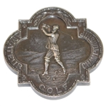 1950 British Amateur Championship Sterling Silver Runner-Up Medal Awarded to Dick Chapman with Letter
