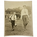 Original Francis Ouimet & Eddie Lowery at 1913 US Open Underwood Photo - Historical Significance