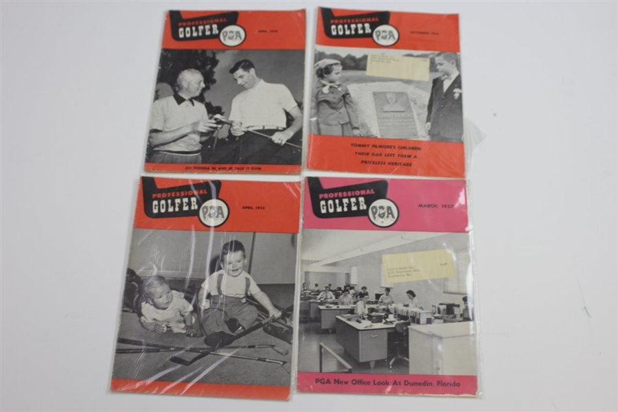 Twenty-Nine Professional Golfer Magazines - 1953-1957 - Some with Mailing Label on Cover
