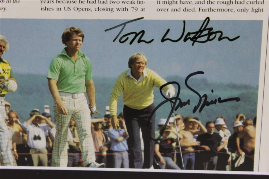 Jack Nicklaus & Tom Watson Signed 'Duel in the Sun' Matted Page JSA ALOA