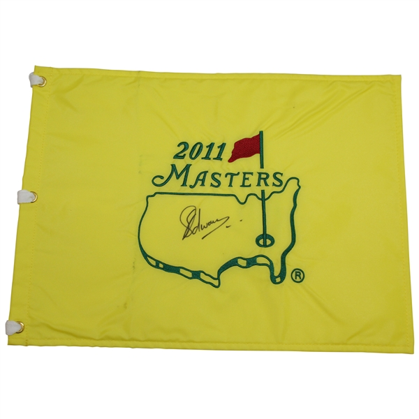 Charl Schwartzel Signed 2011 Masters Embroidered Flag JSA ALOA