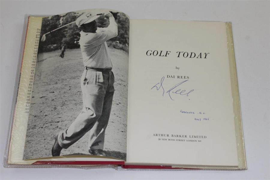 Dai Rees Signed & Dated 1962 'Golf Today' Book JSA ALOA