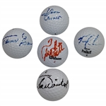 Group of Five Signed Golf Balls Including Kite, Weiskopf, & others JSA ALOA
