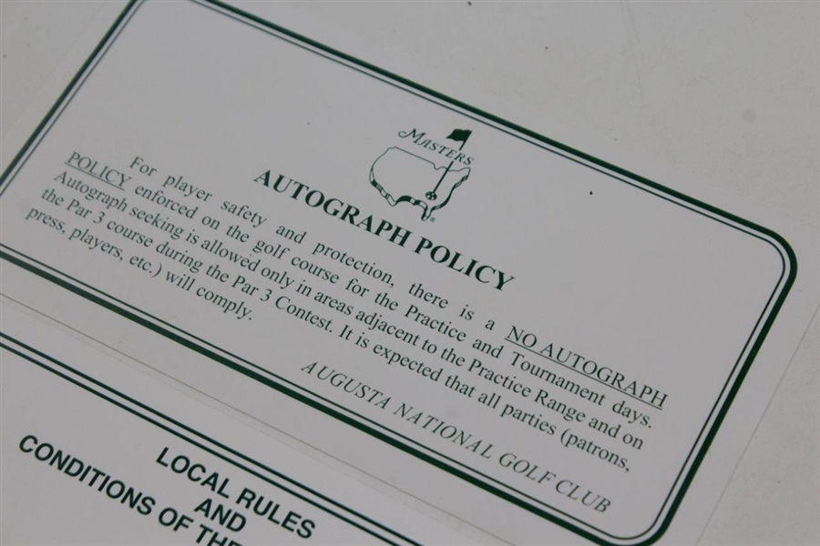 2014 Masters Tournament Rules: Autograph Policy, Local Rules, & Course Closing