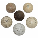 Six Vintage Golf Balls Including The Colonel, Mohawk, Demon, The Fore, Spalding, & other