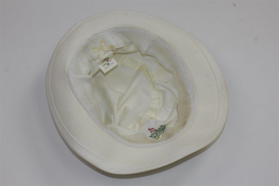 Classic Augusta National Golf Club White Bucket Hat Size Large/XL