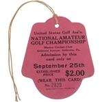 1930 US Amateur at Merion Golf Club Ticket #2829 - Bobby Jones Grand Slam