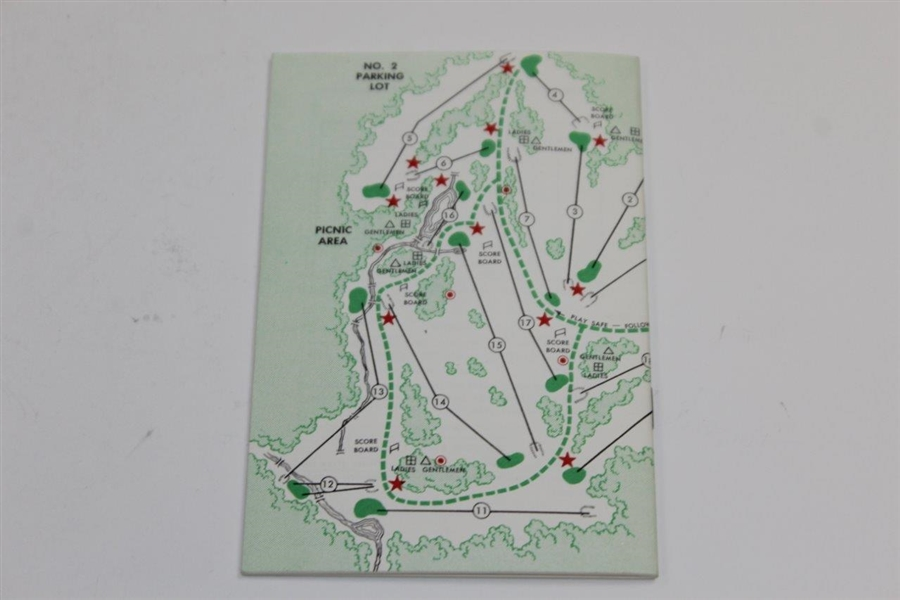 1962 Masters Tournament Spectator Guide - Arnold Palmer Winner