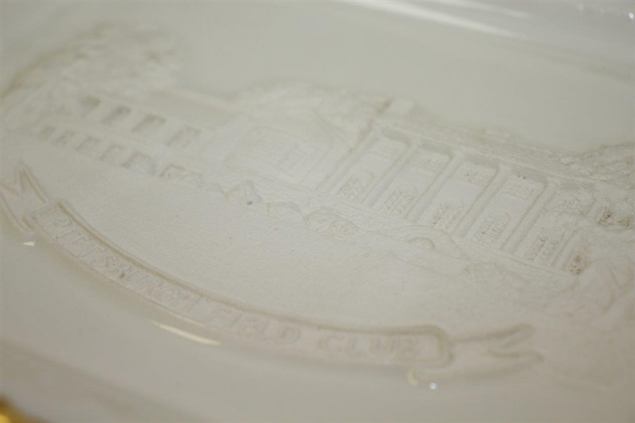Pittsburgh Field Club Royal English Porcelain Dish Handcrafted by Artist Bill Waugh