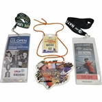 2013 US Open, 1997 Ryder Cup, & 2009 AT&T National Badges/Tickets Lanyards