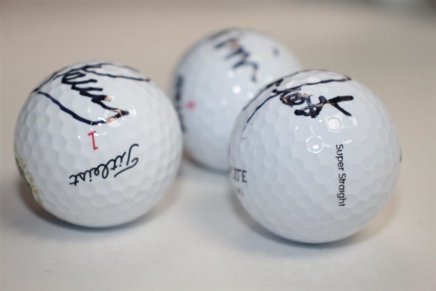 Corey Pavin, Kenny Perry and David Frost Signed Golf Balls JSA ALOA