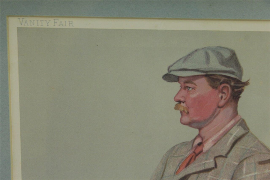 1903 Vanity Fair Golfer Lithograph Muir by Spy - June 18th - Framed