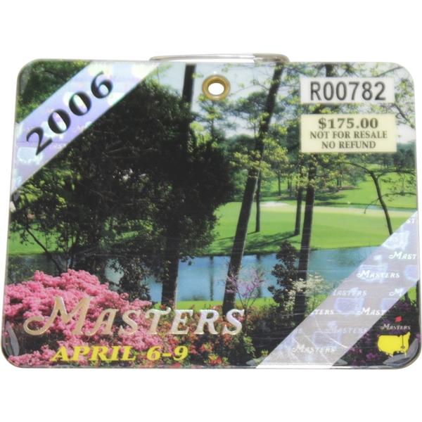 2006 Masters Tournament Series Badges #R00782 - Phil Mickelson Winner