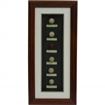 Classic Evolution of the Golf Ball Framed Presentation Display - Facsimile Examples