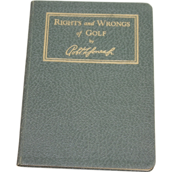 1935 A.G. Spalding & Bros. Rights & Wrongs of Golf by Bobby Jones - Excellent Condition
