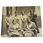 1930 Original United States Womens Golf Team Photo In Paris - Maureen Orcutt Collection