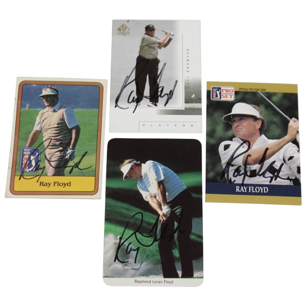 Four Ray Floyd Signed Golf Cards - PGA Tour, Pro-Set, Upper Deck, & Fax-Pax JSA ALOA